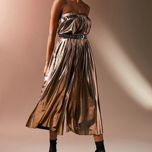 NWT! Urban Outfitters Strapless Copper Jumpsuit!